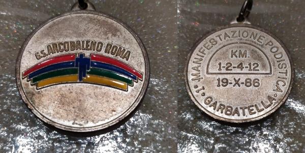 Corri alla Garbatella - Medaglia della 1^ edizione, 1986
