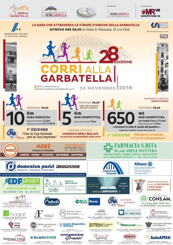 28^CORRIALLAGARBATELLA 24 NOVEMBRE 2019